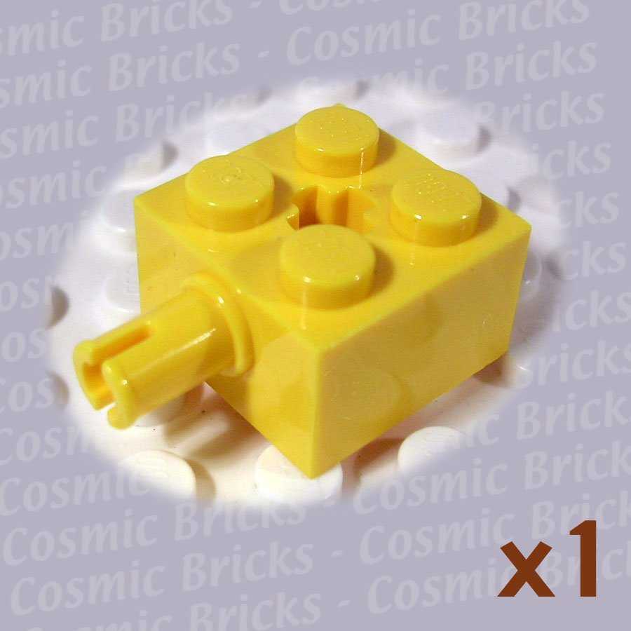 LEGO Yellow Brick Modified 2x2 Pin and Axle Hole 623224 6232 (single,N)