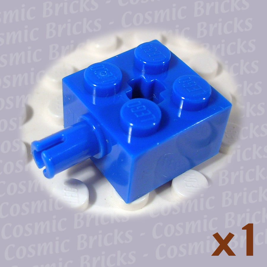 LEGO Blue Brick Modified 2x2 Pin and Axle Hole 6232 (single,N)