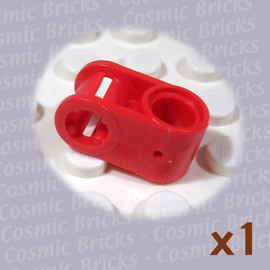 LEGO Bright Red Technic Axle Pin Connector Perpendicular 4173670 6536 (single,N)