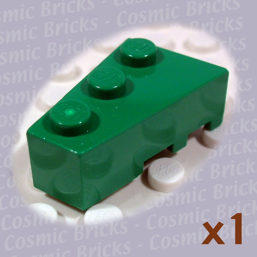 LEGO Dark Green Wedge 3x2 Left 6565 (single,N)