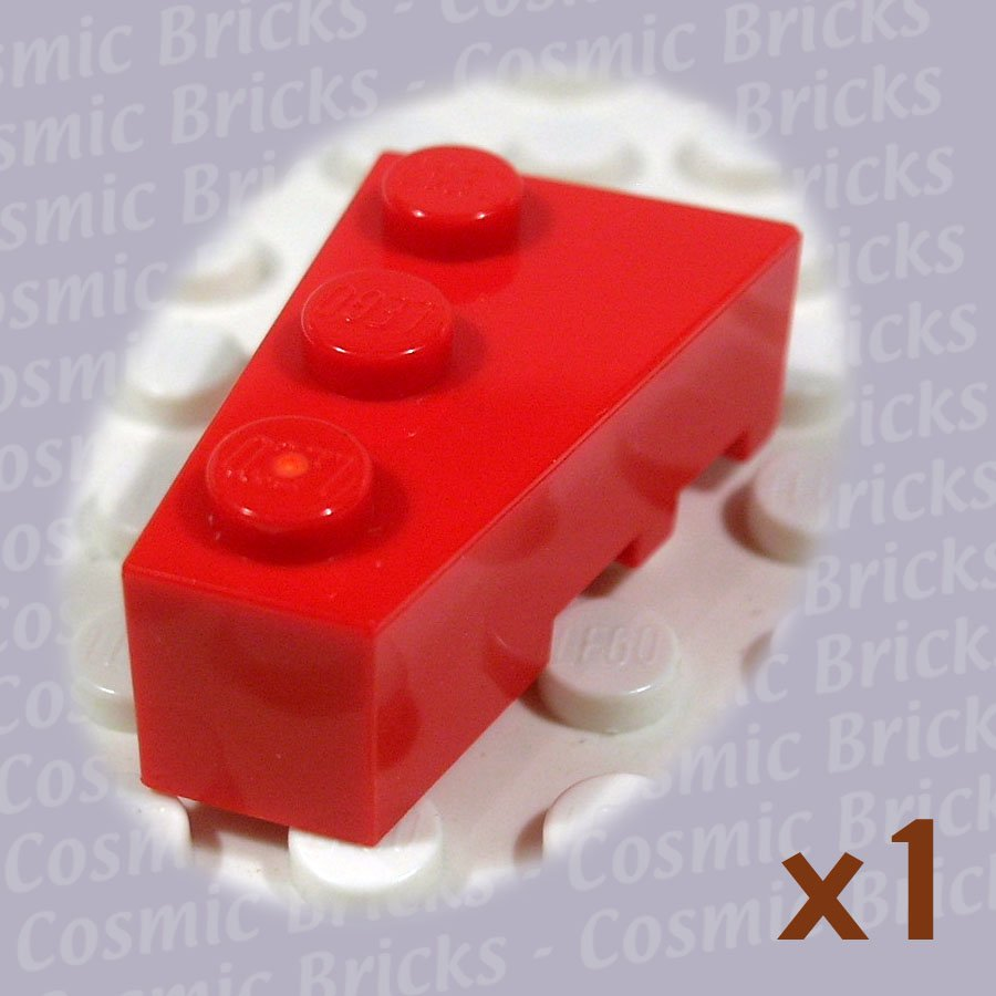 LEGO Bright Red Wedge 3x2 Left 4527765 6565 (single,N)