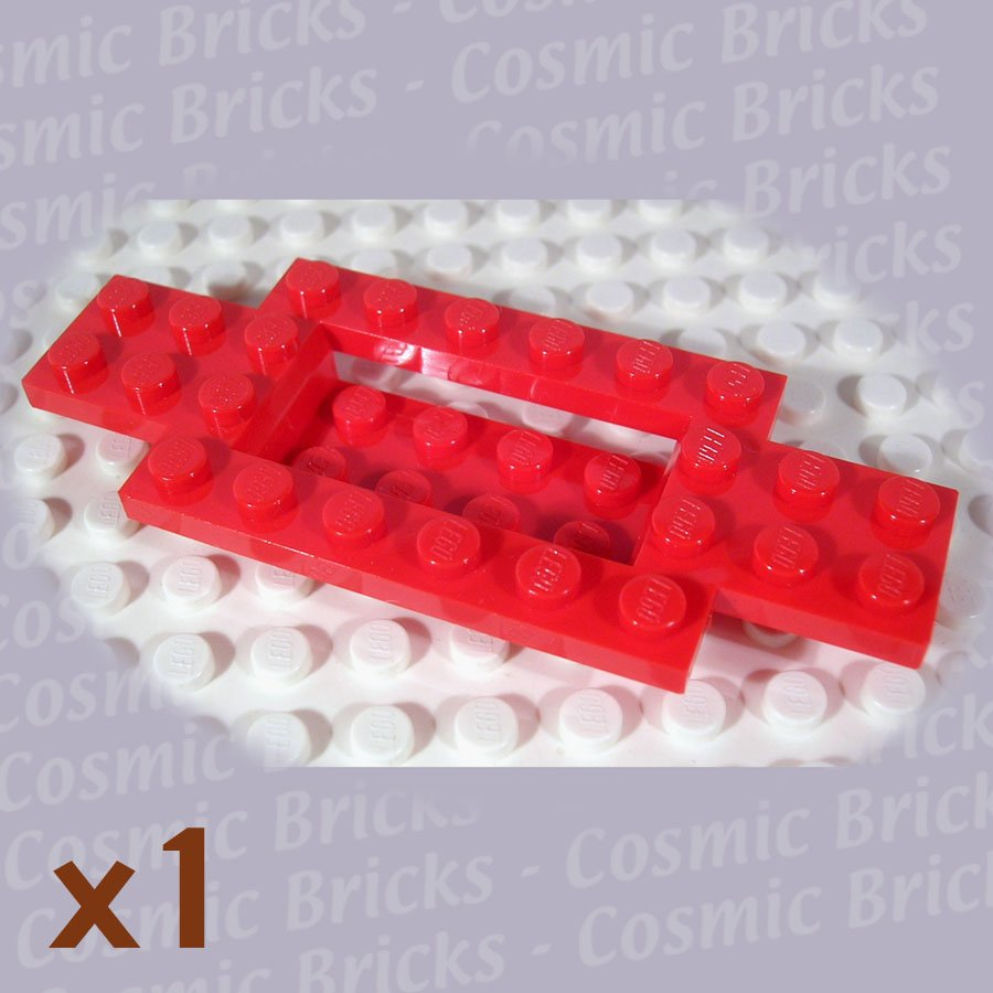 LEGO Bright Red Vehicle Base 4x10x0.6 with 4x2 Recessed Center 4106468 30029 (single,N)