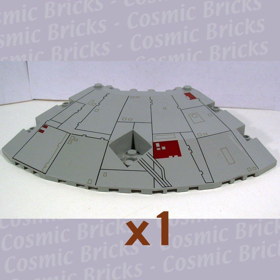 LEGO Light Gray Panel 14x14x2.6 Quarter Saucer Top Millennium Falcon Pattern 30116 (single,U)