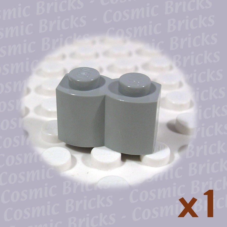 LEGO Light Gray Brick Modified 1x2 Log 4114386 30136 (single,N)