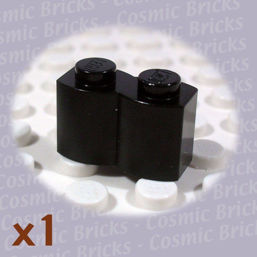 LEGO Black Brick Modified 1x2 Log 4121914 30136 (single,U)
