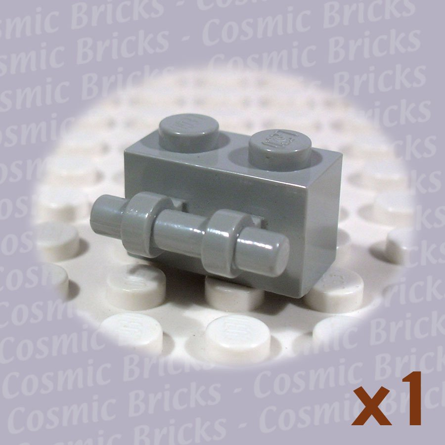 LEGO Light Gray Brick Modified 1x2 Handle 30236 (single,U)