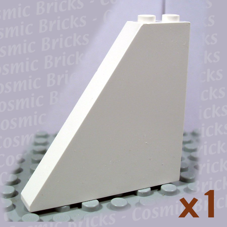 LEGO White Slope 55 6x1x5 4502028 30249 (single,N)