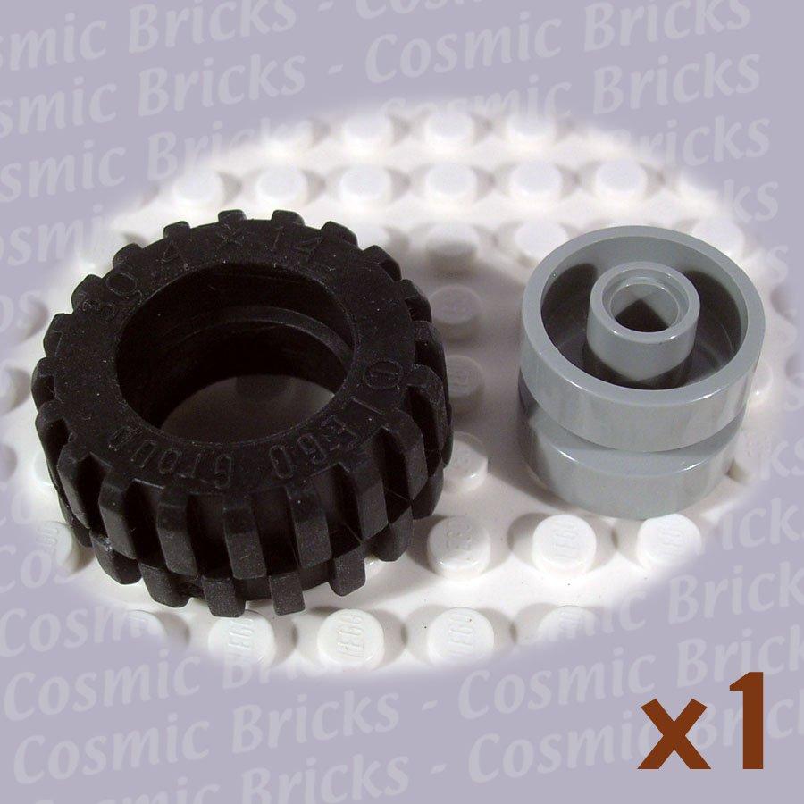 LEGO Light Gray Wheel and Black Tire 30.4x14 30285 (single,N)