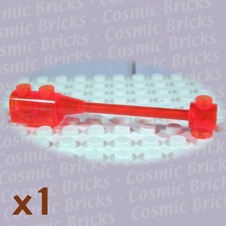 LEGO Trans Neon Orange Bar 1x8 Brick 1x2 Curved Top End 4125233 30359 (single,N)
