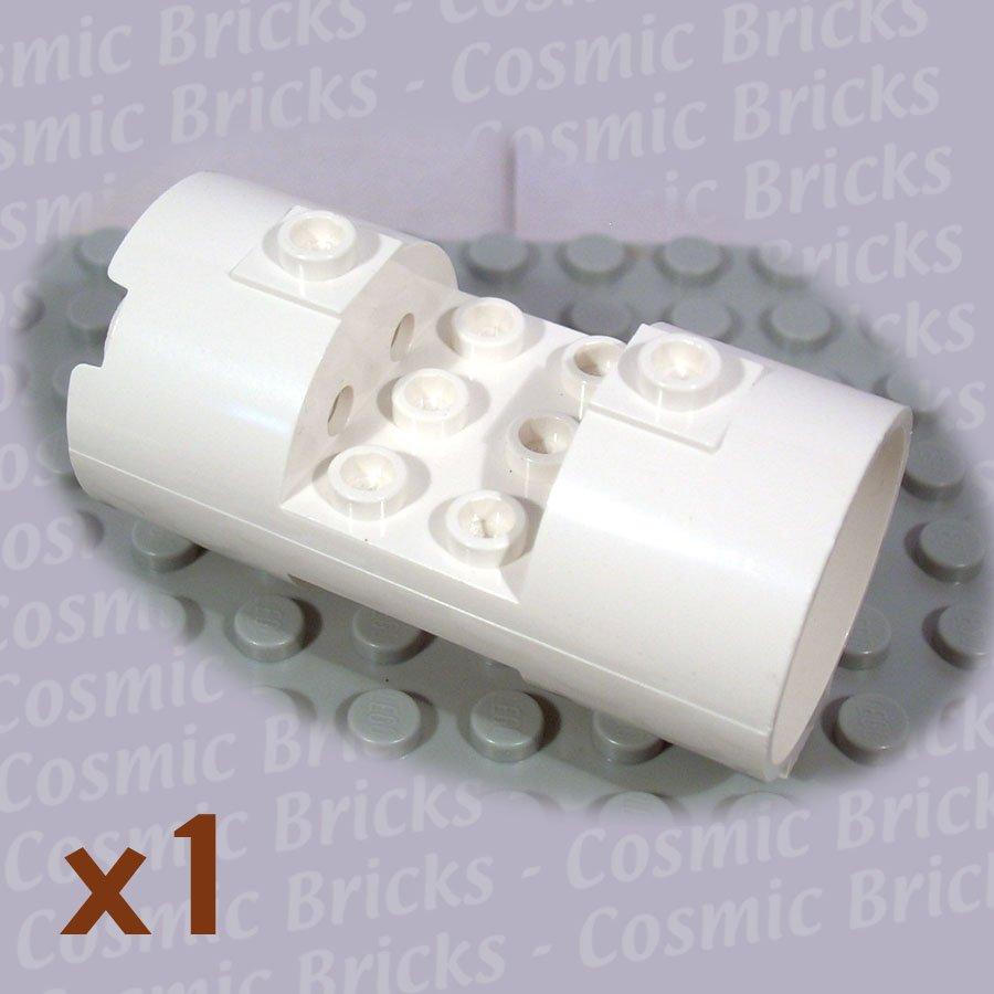 LEGO White Cylinder 3x6x2.6 Horizontal 30360 (single,N)