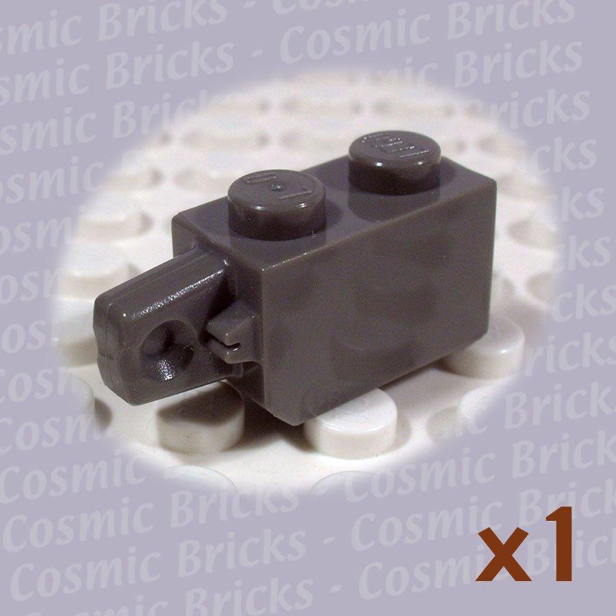 LEGO Dark Gray Hinge Brick 1x2 Locking 1 Finger Vertical End 4144497 30364 (single,U)