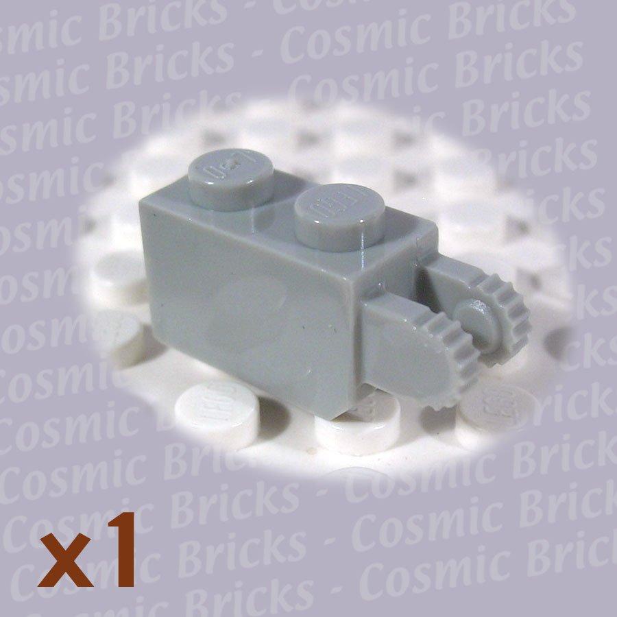 LEGO Light Gray Hinge Brick 1x2 Locking 2 Fingers Vertical End 4144500 30365 (single,N)