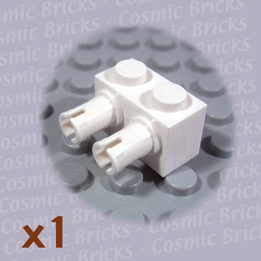 LEGO White Brick Modified 1x2 2 Pins 4143276 30526 (single,N)