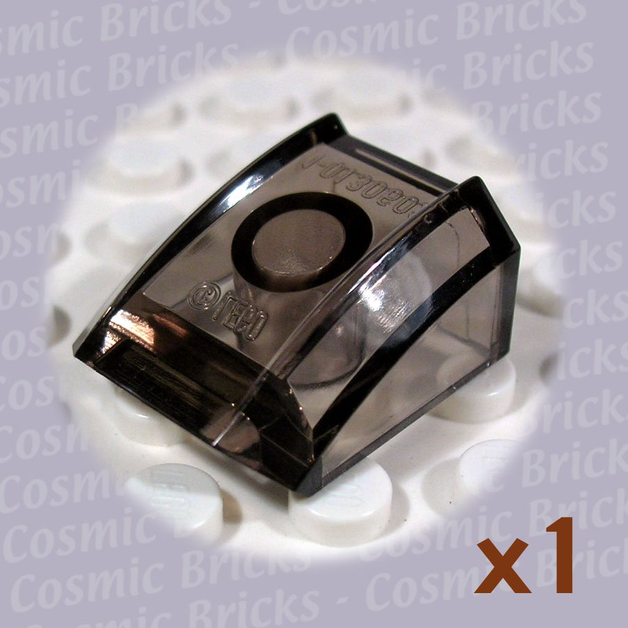 LEGO Trans-Black Slope Curved 2x2 Lip 4217722 30602 (single,N)