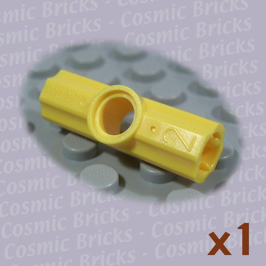 LEGO Yellow Technic Axle Pin Connector Angled #2 32034 (single,N)
