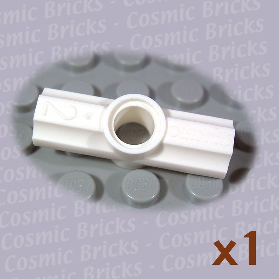 LEGO White Technic Axle Pin Connector Angled #2 4125554 32034 (single,N)