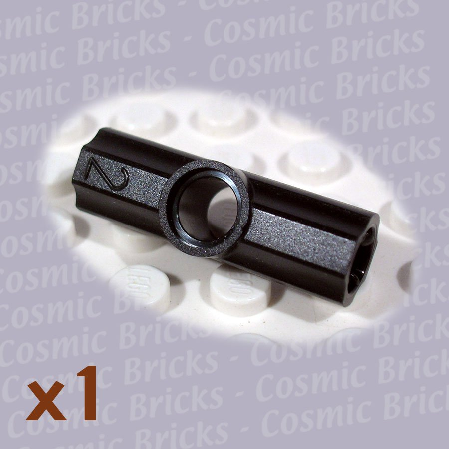 LEGO Black Technic Axle Pin Connector Angled #2 4107783 32034 (single,N)