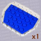 LEGO Blue Wedge Plate 4x6 Cut Corners 4141268 32059 (single,N)