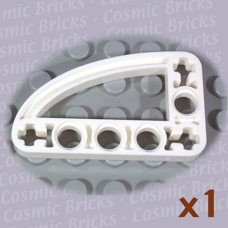 LEGO White Technic Liftarm 3x5 L-Shape Quarter Ellipse Thin 4144132 32250 (single,N)