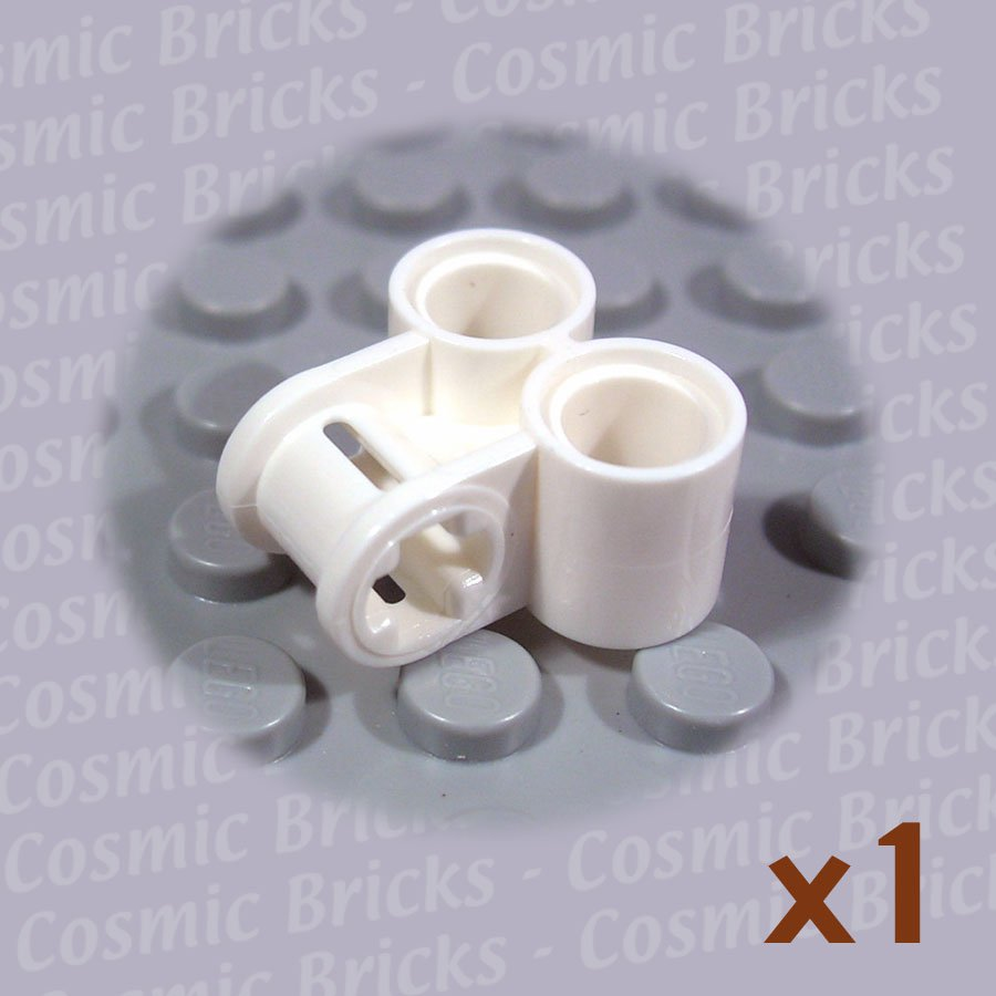 LEGO White Technic Axle Pin Connector Perpendicular Double 4144131 32291 (single,N)