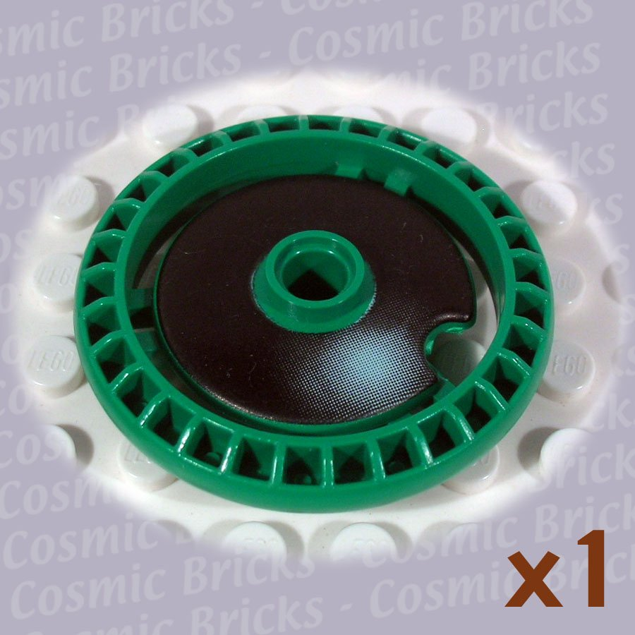 LEGO Dark Green Technic Disk 5x5 Notched Pit Droid Nose 32439 (single,N)