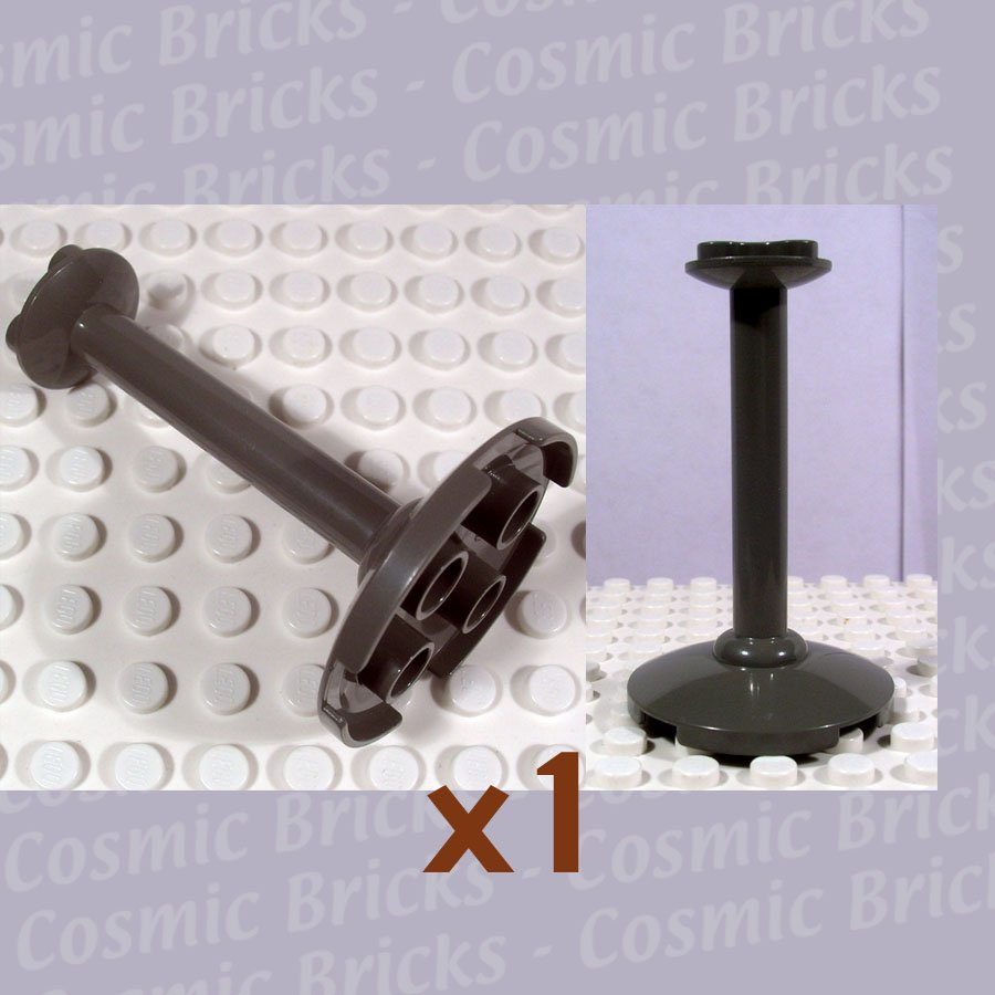 LEGO Dark Gray Support 4x4x5.6 Stand 33089 (single,N)