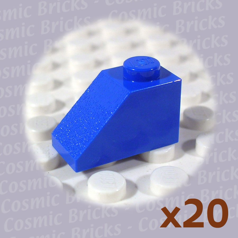 Lego bright blue roof tile 1x2 45 4121936 3040 20 pack n Bright blue tile