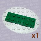 LEGO Dark Green Plate 2x6 379528 3795 (single,N)