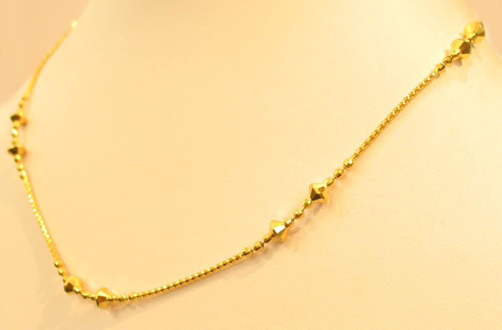 18K GOLD SPARKLING NECKLACE FROM SINGAPORE