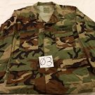 Woodland Camo BDU Men's Shirt,Summer Cloth, Lrg/Reg.US Navy,First Class Patch-3