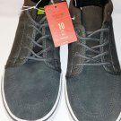 New Mossimo Supply Co Elio Mens Gray Suede Green Canvas US Size 10 Casual Shoes