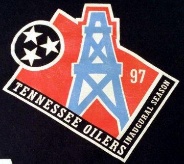 Rare Vintage Tennessee Oilers 1997 Inaugural Season Men's XL 100% Cotton Collect