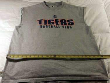 MLB Detroit Tigers Baseball T-shirt Sleeveless Men's XL