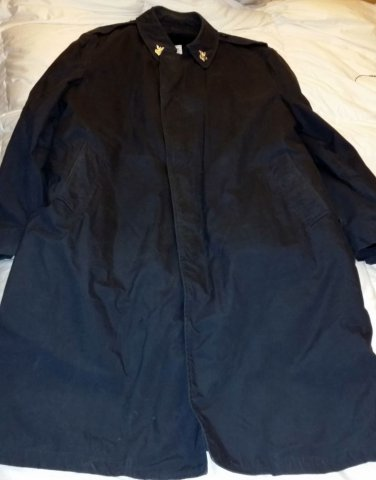 US Military Rain Coat with Zip Out Cold Weather Liner Men's 46XL US Navy Black