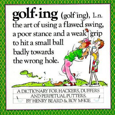 Golfing Dictionary for Hackers Duffers Paperback Book Sports Golf Humor