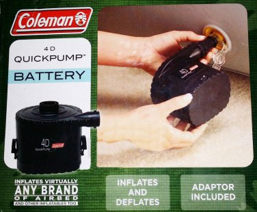 Coleman 4D Universal Quick Pump Air Bed Pump Blow-up Mattress Battery Inflator