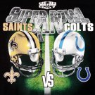 Super Bowl XLIV Saints vs Colts Black NFL T-shirt Men's XL New with Tags