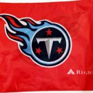 "Tennessee Titan 12th Man Car Flag, Very Nice, Red, 15 x 11 ~ 19"" Pole"