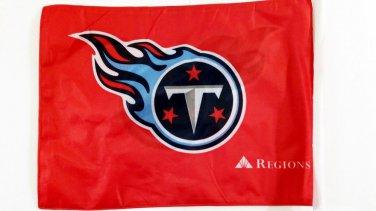 "Tennessee Titan 12th Man Car Flag, Very Nice, Red, 15 x 11 ~ 19"" Pole"