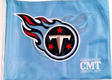 """Tennessee Titan Car Flag, Very Nice, Baby Blue, 15 x 11 ~ 19"""" Pole"""