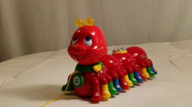 Leapfrog Alphabet Pal Red Caterpillar Pull Toy Teach Letters Sings