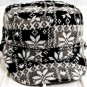D&Y Black, White, Gray Snowflake Hat One Size Fits Most