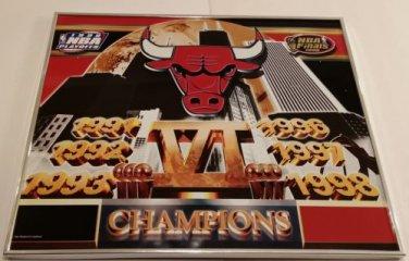 "Vintage Chicago Bulls 6 Championship Framed Metal Poster 20""X24"" Near Mint"
