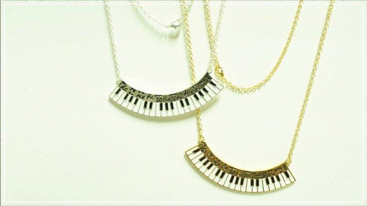 Piano Necklace