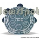 BIG GLASS PESACH PLATE .