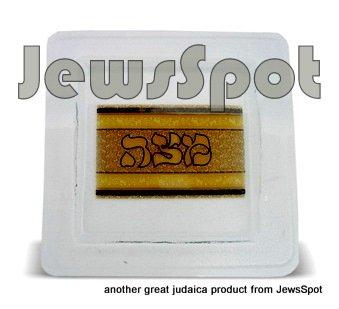 GLASS MATZAH PLATE BRO30 CM
