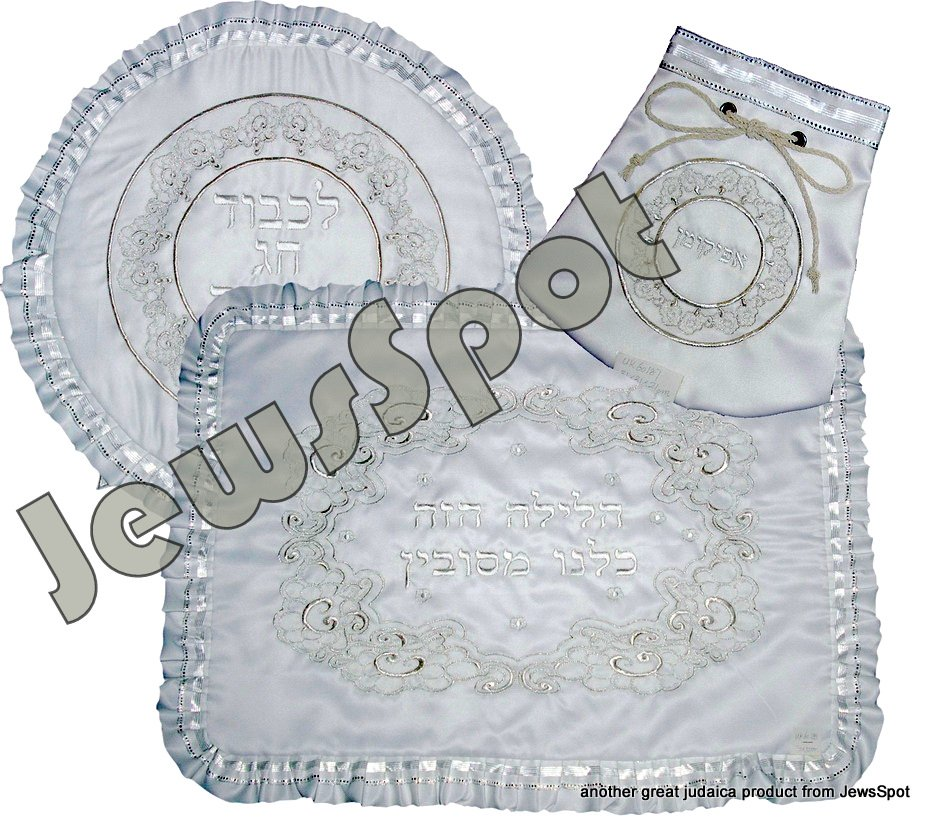 FANCY PESACH SET + AFIKUMEN + TOWEL
