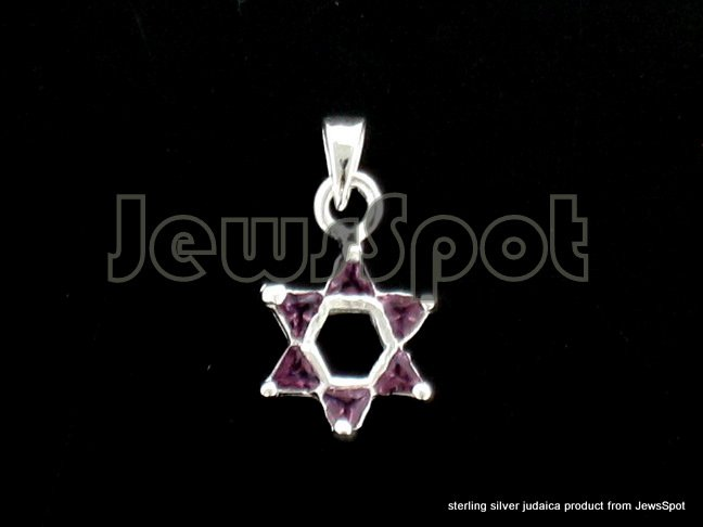 PENDANT MAGEN DAVID PURPLE