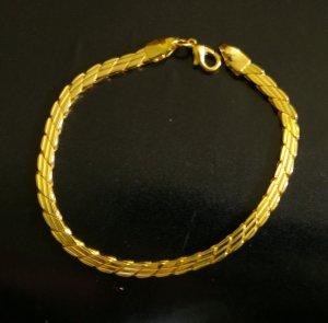 """6.8"""" nice handmade 24K gold filled bracelet 22"""