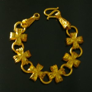 "fascinated 6.3"" handmade 24K gold filled bracelet 033"